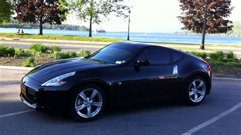 nissan 370z blacked out 2011 black nissan 370z at lake george ny