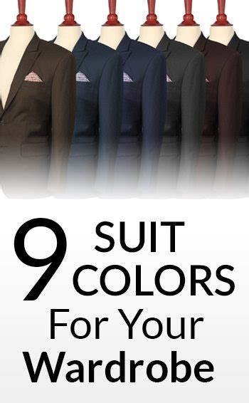 suit color guide 9 suit colors for a s wardrobe s suits color