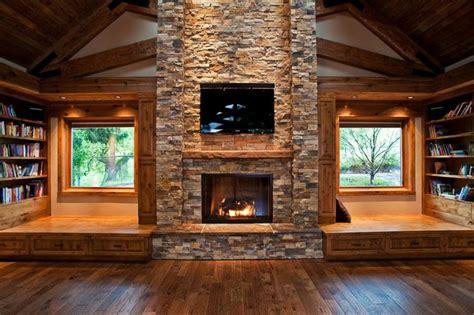 log cabin interiors chemin 233 e moderne design efficacit 233 style
