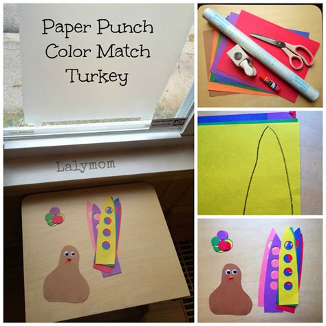 Make Your Own Paper Punch - paper punch color match turkey a thanksgiving motor