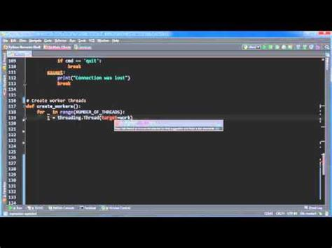 tutorial python threading python reverse shell tutorial 13 creating the threads