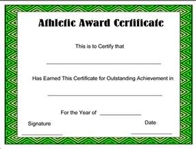 Free Sports Certificate Templates Athletic Award Certificate Template Certifiatetemplate Net