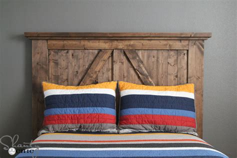 diy barn door headboard shanty  chic