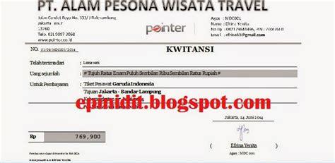 cara membuat invoice tiket pesawat indahnya berbagi miliki travel profesional pribadi dengan