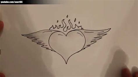 drawing of heart with wings kids coloring europe