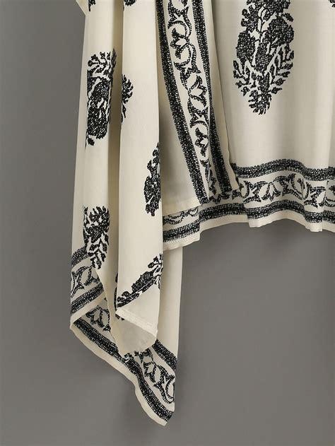 kimono pattern print beige vintage pattern print kimono