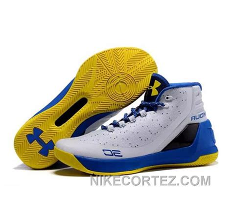 Armour Curry Size 40 46 Premium armour stephen curry 3 shoes white blue yellow