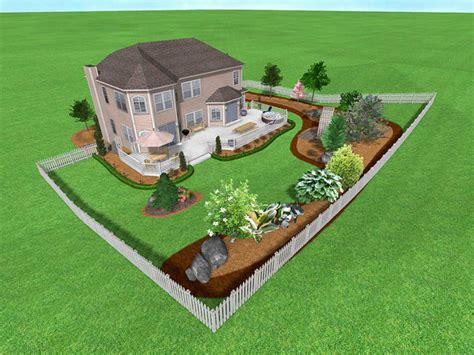 front yard landscaping design and plans with garden