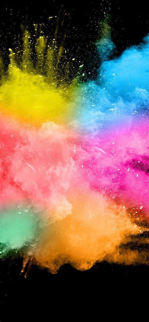 wallpaper colorful smoke splash abstract black background 5120x2880 uhd 5k picture image