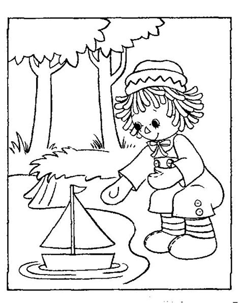 coloring book pages raggedy 17 best images about redwork children on