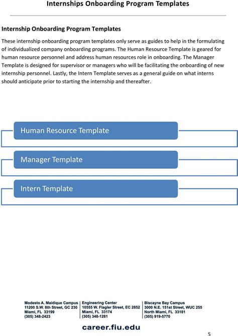 Onboarding Manual For Internship Programs Pdf Intern Onboarding Template