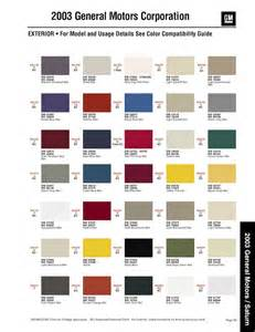 paint chips 2003 gm astro