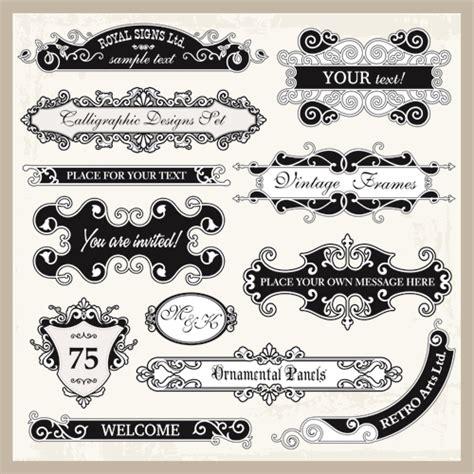 vintage frames with ornaments design elements vector 05