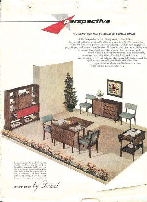 1960s drexel perspective dining room furniture ad i have a drexel perspective dining room table 505 4 with 6