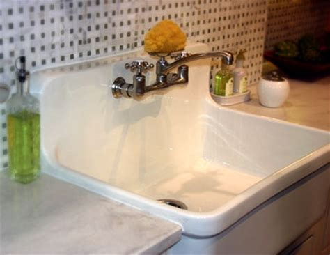cast iron sink with built in backsplash gardening w