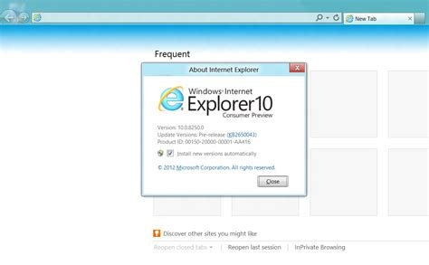internet explorer 10 first look at screenshots and what s new in internet