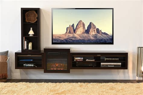 floating cabinet tv wall mounted floating tv stands woodwaves