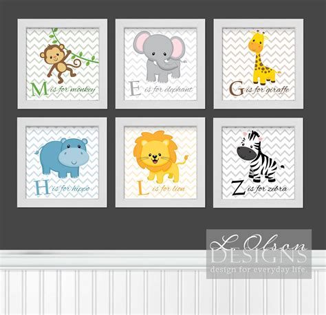 printable animal pictures for nursery zoo safari animals chevron and letters nursery art diy