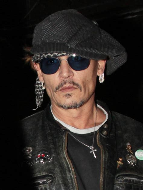 Johnny Depp Gaunt Johnny Depp At Gaga S Birthday Ahead Of