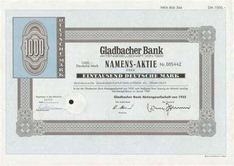dt bank aktie hwp gladbacher bank aktiengesellschaft 1922