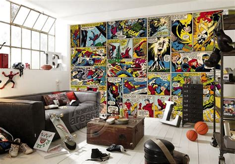 marvel comic bedroom ideas marvel comics wallpaper custom 3d wall murals captain