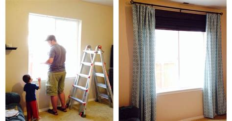 living room curtain rod a after the chaseys before and after living room window shades curtains
