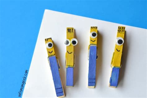 clothespin crafts for minion clothespin craft for