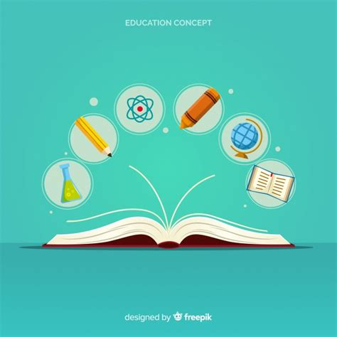 education design modern education concept with flat design vector free