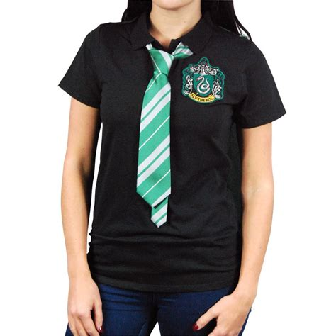 harry potter slytherin cape polo shirt with tie
