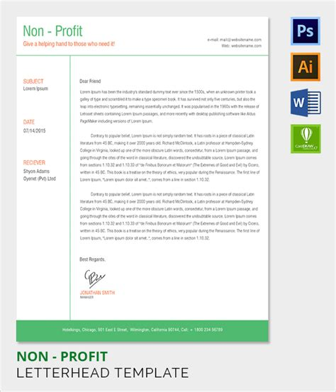 charity letterhead template charity letterhead exles 28 images non profit