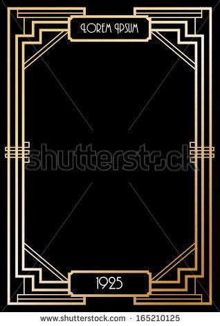 gatsby border template deco border template vector illustration by lyeyee
