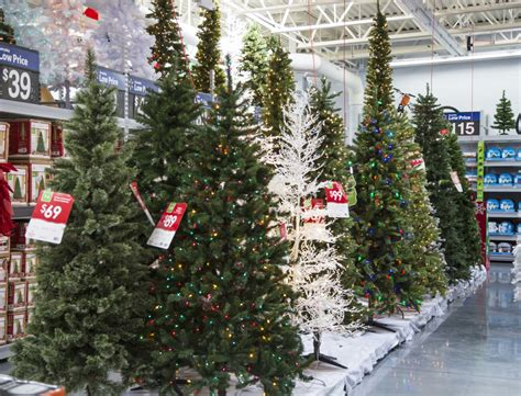 black friday artificial 9 ft christmas tree sales trees on display