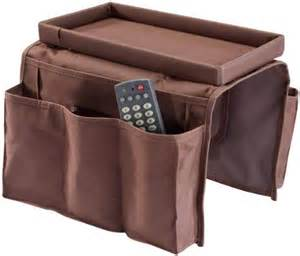 sofa arm chair caddy brown baskets bins