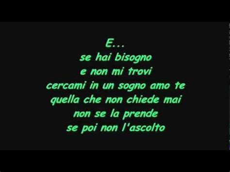 vasco amo te testo vasco e with lyrics