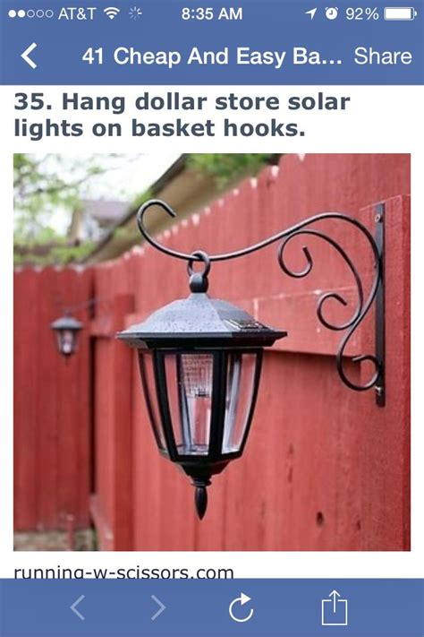Basket Hooks And Dollar Store Solar Lights To Hang On Your Dollar Store Solar Lights