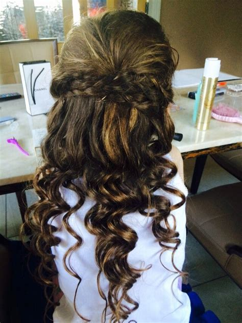down hairstyles for communion lovely curls half up half down plaits gorgeous communion