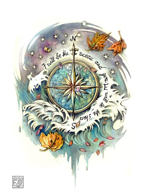 tattoo wind rose wind commission by asfahani on deviantart