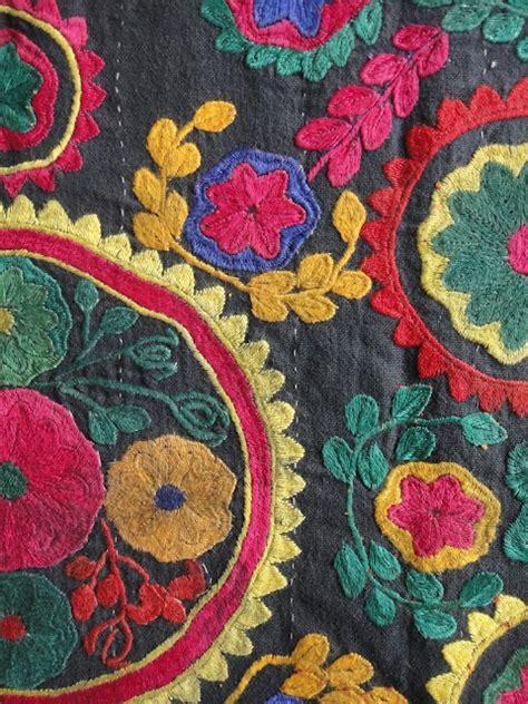 uzbek vintage suzani handmade embroidery sew et al pinterest pinterest the world s catalog of ideas