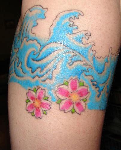 oriental tattoo waves japanese wave tattoos
