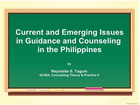 issues in school counseling current issues in guidance and counseling in the philippines