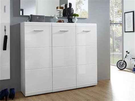 white shoe cabinet with doors adana shoe cabinet in white high gloss modern furniture