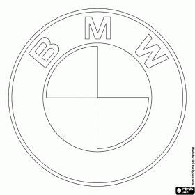 bmw logo german car brand coloring page character