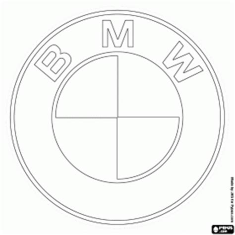 cars logo coloring pages bmw logo german car brand coloring page character