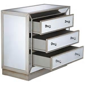trevi 3 drawer mirrored chest