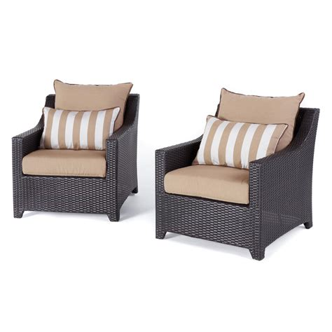 outdoor club chair rst brands deco 2 all weather wicker patio club