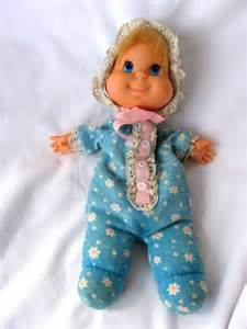 mattel baby beans beddie bye talking doll 1970 72 blue sleeper