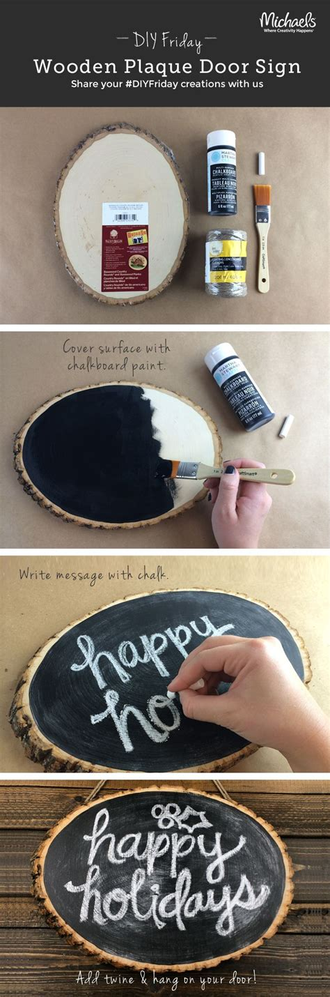 Diy Chalk Sign On Wood Slice Events By Debbra Nwa River