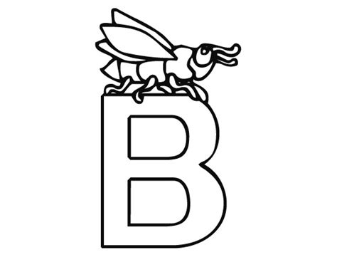 coloring page letter b coloring pages letter b