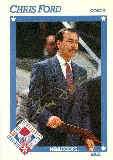 Ford Basketball by Chris Ford Autographed Basketball Card Boston Celtics