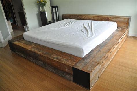 minimalist platform bed minimalist environment furniture luxury reclaimed wood